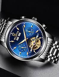 <b>WLISTH Men's Mechanical</b> Watch <b>Automatic</b> self-winding Formal ...