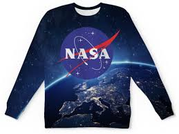 <b>Свитшот</b> мужской с полной запечаткой <b>NASA</b> - <b>Printio</b>