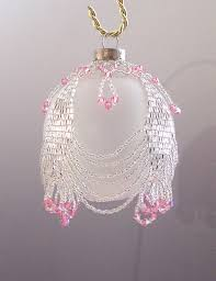 beaded or nt cover patterns netting as a beaded beaded or nt cover patterns netting as a beaded christmas bauble beaded or nt cover pattern
