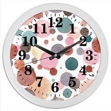"""<b>Часы круглые из</b> пластика """"Акварельные"""" #2244122 от BeliySlon ..."""