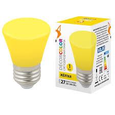 <b>Лампочка Volpe LED</b>-<b>D45</b>-<b>1W</b>/YELLOW/<b>E27</b>/<b>FR/С BELL Bell LED</b> ...