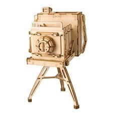 <b>Деревянный 3D конструктор Robotime</b> Винтажная камера ...