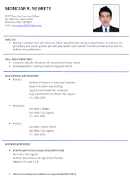 Sample Resume Format Download Resume Format For Engineers Resume     happytom co