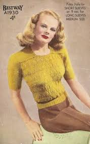 1940s Knitting Pattern for Womens Cardigan / Jacket with Colorwork ...