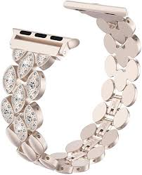 Wearlizer Champagne Gold Compatible with Apple <b>Watch Band</b> ...