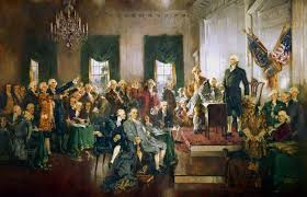 Scène à la signature de la Constitution des États-Unis
