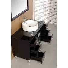 element contemporary bathroom vanity set: design element decc e malibu  inch single sink modern bathroom vanity in espresso finish