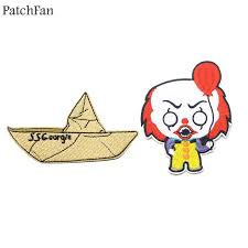 <b>Patchfan</b> Stephen King's IT clown SS Georgie Embroidered Iron On ...