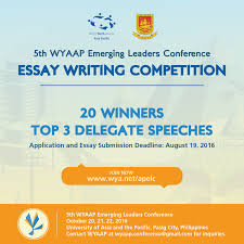 world youth alliance wyaap launches essay writing competition 5th wyaap elc essay comp poster