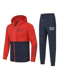 Купить - <b>Спортивный костюм</b> с капюшоном <b>EA7</b> (красный алый ...