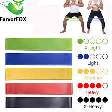 <b>5 Colors Yoga Resistance</b> Rubber Bands Indoor Outdoor Fitness ...