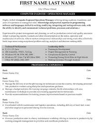 operations manager resume sample template