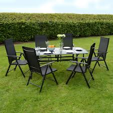 black finish metal garden black garden furniture