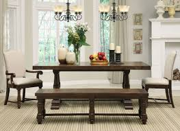 Dining Room Tables With Bench This Breakfast Nook Unit Includes The Wood Table 2 Dining Benches