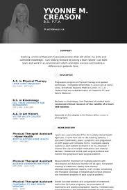 physical therapist resume samples   visualcv resume samples databasephysical therapist assistant home health resume samples