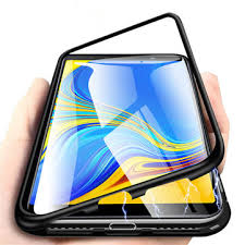 bakeey™ <b>magnetic</b> adsorption flip metal frame tempered glass back ...