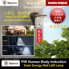 <b>Baseus</b> Solar Charging PIR <b>Human</b> Body Induction Motion Detect ...
