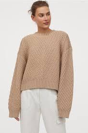 <b>Джемпер структурной</b> вязки - Оранжевый - Женщины | H&M RU в ...
