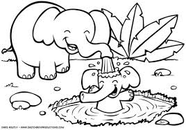 Small Picture Coloring Book Jungle Animals Coloring Pages