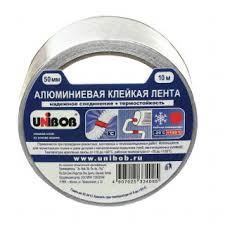 Алюминиевая <b>клейкая лента Unibob</b> 37280, 50 мм х 10 м ...