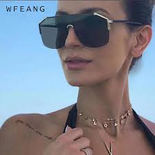 <b>WFEANG</b> Fashion <b>Sunglasses Women</b> Square Style Personality ...