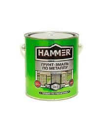 <b>Грунт</b>-<b>эмаль</b> по ржавчине 3 в 1 <b>Hammer</b> серая 2.7 кг — купить в ...