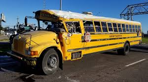 9 students taken to hospital after school bus crash on I-<b>10W</b> at <b>High</b> ...