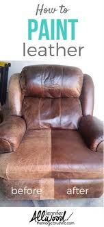 did you know you can paint leather heres a tutorial on how to paint and can you paint leather furniture
