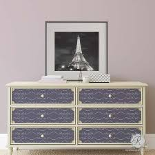 modern painted furniture. diy painted furniture project using girly and feminine stencils gigi scroll modern a