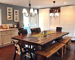 wooden kitchen table reclaimed