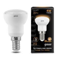 <b>106001104 Лампа Gauss</b> LED <b>Reflector</b> R39 E14 4W 2700K 1/10/50