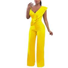 Cosics <b>Jumpsuit</b> for <b>Women Elegant</b>, Sexy Deep <b>V Neck</b> Long Wide ...