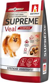 <b>Корм</b> для собак <b>ЗООГУРМАН</b> Полнорационный <b>сухой</b> Supreme ...