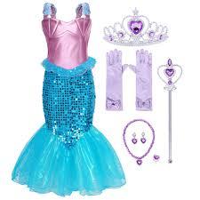 <b>AmzBarley</b> Little Mermaid Costume Fancy Ariel <b>Dress</b> up <b>Girls</b> ...