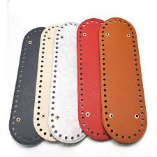 <b>New 1PC Fashion</b> Oval Long Bottom for Knitting Bag PU Leather 52 ...