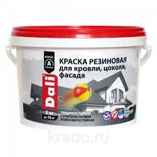 <b>Dali краска резиновая</b> для кровли, цоколя, фасада, 12кг: продажа ...