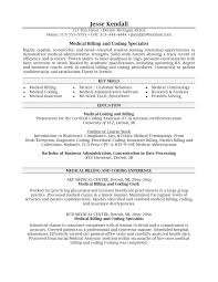 medical billing and coding resume examples resume format  medical