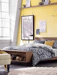 bedroom bright yellow wall