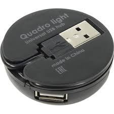 <b>Концентратор USB</b> 2.0 <b>Defender Quadro</b> Light Black — купить ...
