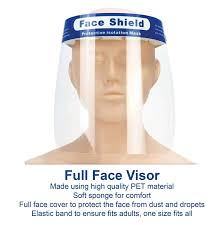JPN <b>Transparent</b> Safety <b>Face Shield</b> Full - Buy Online in Israel at ...