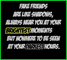 Fake friends are like shadows | Funny Dirty Adult Jokes, Memes ... via Relatably.com