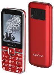 Мобильный <b>телефон MAXVI P18</b> RED • экран 2.8 дюйм. (320x240 ...