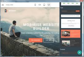 offline website builder software mobirise offline static site maker