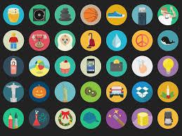 flat round icons pack basic icons flat icons 1000