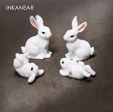 <b>Cute</b> Rabbits <b>Family</b> Figurine Simulation Farm Animal <b>Model</b> ...