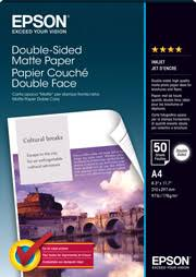A4 <b>Double</b>-<b>Sided Matte Paper</b> - 50 Sheets (178gsm) - <b>Epson</b> ...