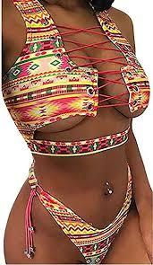 Bong Buy Women's 2 Pieces African Print Bikini Set ... - Amazon.com