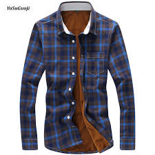 New 2019 fashion <b>plaid</b> thickening fleece warm winter <b>shirt</b> men ...