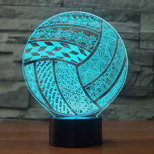 <b>volleyball LED 3D</b> Night Light Sport Desk lamp Bedroom Light ...