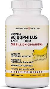 American Health <b>Chewable</b> Probiotic <b>Acidophilus and Bifidum</b> ...